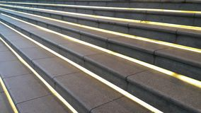 Stair with linear hidden lamp Stock Photo