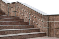 Stair. Modern stair with metal handrail Stock Image