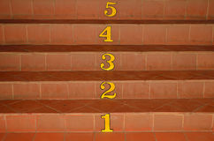 Stair and number. One to five Royalty Free Stock Image