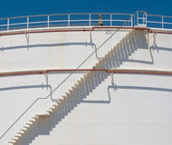 Stair at oil tank Stock Photo