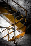 Stair in old and dirty building Stock Photos