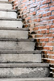 Stair and orange brick wall Royalty Free Stock Photography