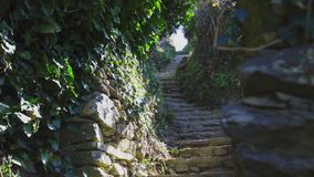 Stair Path on the hiking trail from Monterosso, Cinque Terre, Italy