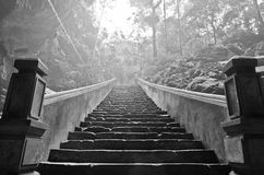 The Stair of the Perfume Pagoda. The perfume pagoda is located in a rmote place in the middle of the mountains, near Hanoi. This pagoda is dug in the rock in a Stock Images