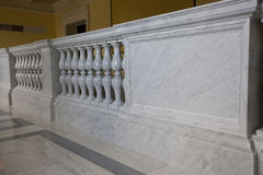 Stair railings made of marble Stock Images