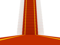Stair with red carpent Royalty Free Stock Photos