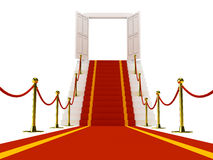 Stair with red carpent royalty free illustration