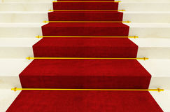 Stair and red carpet. Fine 3d image background Stock Photos