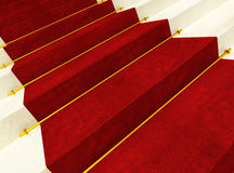 Stair and red carpet Stock Photo