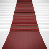 Stair with red carpet Royalty Free Stock Photos