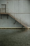 Stair river. Down the stairs of the bridge over the river Stock Photo
