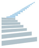 Stair in sky. Stair as a symbol of height for infographic on a white background Stock Photo