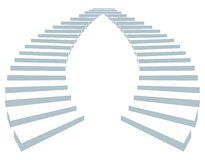 Stair in sky3. Stair as a symbol of height is in infographic on white background Royalty Free Stock Photography