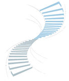 Stair in sky1. Stair as a symbol of height is in infographic on white background Royalty Free Stock Image