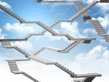 Stair in the sky Royalty Free Stock Photo