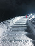 Stair in the snow. Stair step in the snow Royalty Free Stock Images