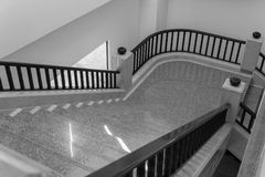 Stair step and bannister. Interior design of stair step and bannister stock images