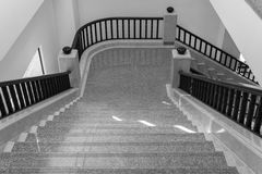 Stair step and bannister. Interior design of stair step and bannister royalty free stock photo