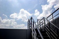 Stair step to roof top Stock Photo