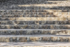 Stair steps of stone. Which lead upwards Stock Photos