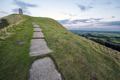 Stair Steps to Glastonbury Tor Royalty Free Stock Photography