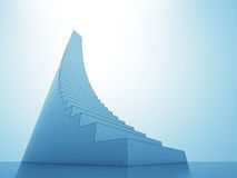 Stair steps to heaven sky blue light background Royalty Free Stock Photos