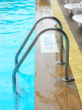 Stair swimming pool Stock Image