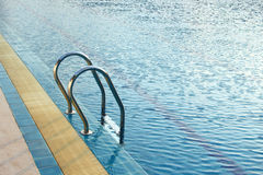 Stair of swimming pool Royalty Free Stock Photography