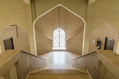 Stair to the Arabic Style Window with Sunlight.  Royalty Free Stock Image