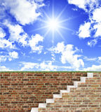 Stair to be free Royalty Free Stock Photography