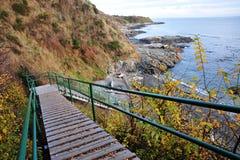 Stair to beach Stock Photo