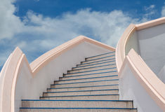 Stair to blue sky. Stock Photography