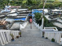 Stair to Buddhist Temple in Marpha village, Nepal Stock Photos