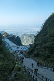 Stair to Heaven Gate at the Tianmen Mountain Stock Image