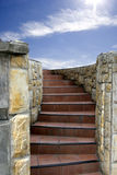 A stair to the sky. Very popular people fantasy to reach the sky. Useful for advertisement Stock Images