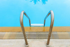 Stair to the swimming pool Royalty Free Stock Photography