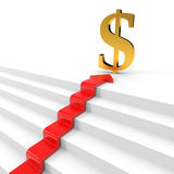 Stair to wealth. Success concept. Royalty Free Stock Photos