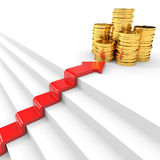Stair to wealth. Success concept. Stock Photos
