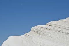 Stair of the Turkish, white mountain.Agrigento Stock Photos