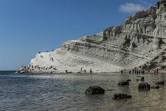 Stair of the Turks Scala dei Turchi landscape. royalty free stock images