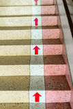 Stair up with red colour, success concept. Stock Photos