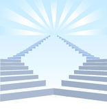 Stair upwards and refulgency. In blue sky Stock Image