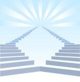 Stair upwards and refulgency Stock Image