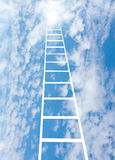 Stair upwards in sky to a sun Stock Images