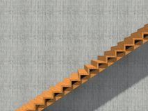 Stair on wall background building or architecture. Conceptual stair on wall background building or architecture as metaphor to business success, growth, progress Stock Photos