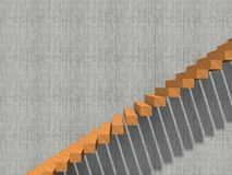 Stair on wall background building or architecture. Conceptual stair on wall background building or architecture as metaphor to business success, growth, progress Stock Photography
