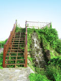 Stair and waterfall Royalty Free Stock Image