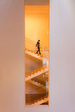 Stair way inside MoMA Stock Images