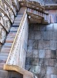 Stair way to Duomo roof Stock Photography