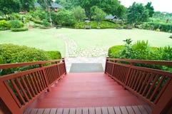 Stair way to garden Royalty Free Stock Photos